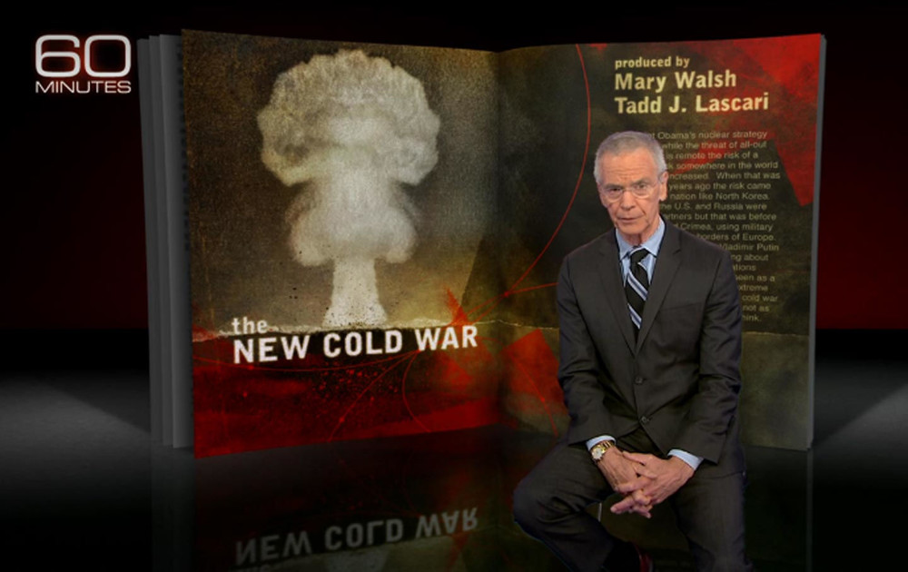 "Correspondent David Martin on ""The New Cold War,"" which aired on 60 Minutes  on September 25, 2016. (60 Minutes / CBS News)"