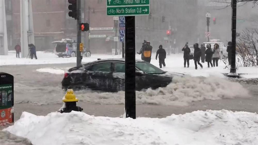 See Boston streets awash during its worst coastal flooding in 40 years