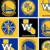 Golden State Warriors Fleece Fabric 58\u0027\u0027-Block