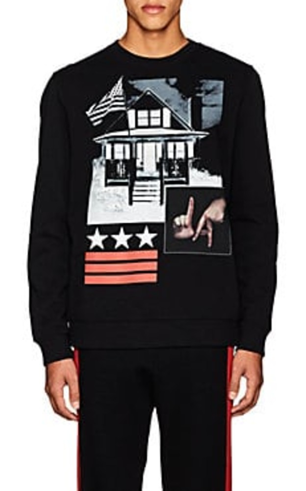 Givenchy Cuban-Fit Graphic Cotton Fleece Sweatshirt