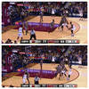 """ESPN Virtual 3 technology will illuminate the three-point line when such  shots are attempted """""""
